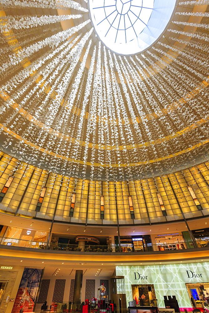 Designer shops, Dubai Mall, Dubai, United Arab Emirates, Middle East
