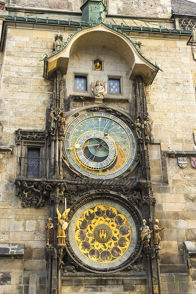 The Astronomical Clock, Old Town Hall, UNESCO World Heritage Site, Prague, Czech Republic, Europe