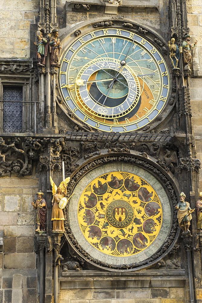 The Astronomical Clock, Old Town Hall, UNESCO World Heritage Site, Prague, Czech Republic, Europe