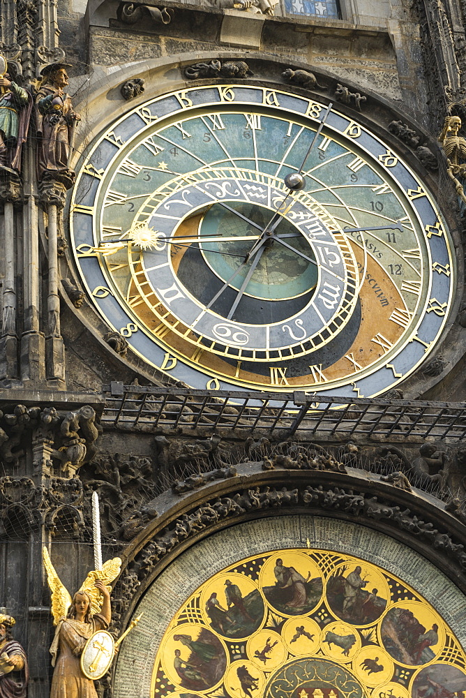 The Astronomical Clock, Old Town Hall, UNESCO World Heritage Site, Prague, Europe - 808-1543