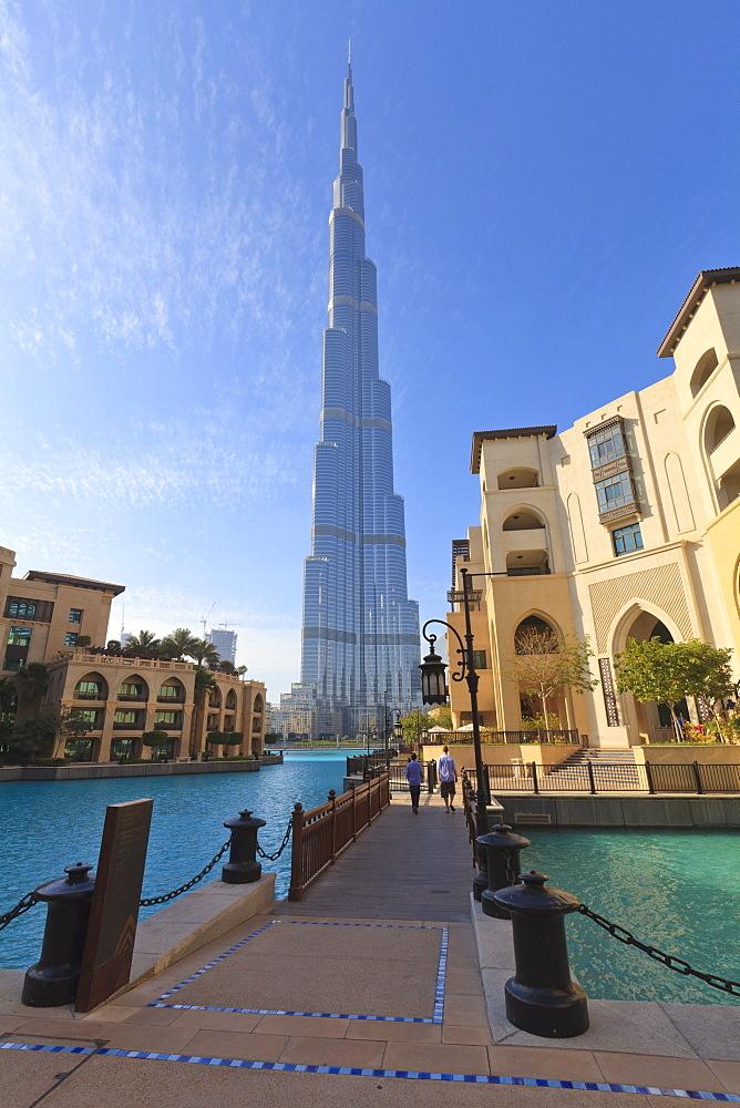 Burj Khalifa and the Palace Hotel, Downtown, Dubai, United Arab Emirates, Middle East
