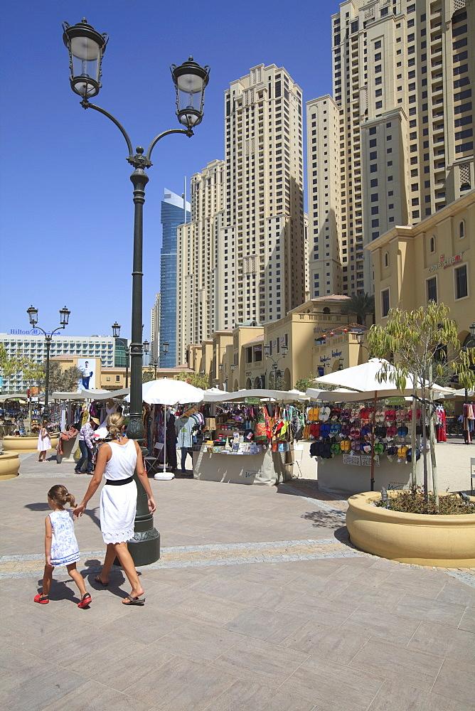 The Walk at Jumeirah Beach Residence, Dubai Marina, Dubai, United Arab Emirates, Middle East