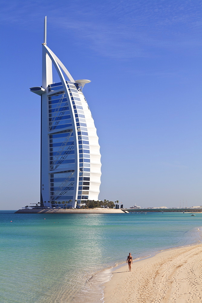 The iconic Burj Al Arab Hotel, Jumeirah, Dubai, United Arab Emirates, Middle East