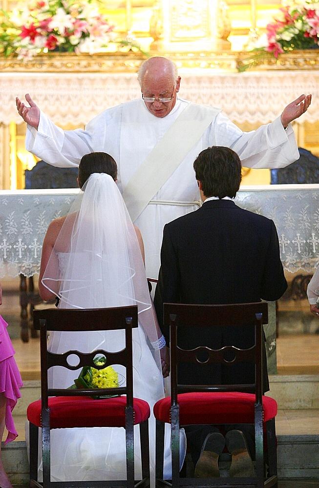 Roman catholic wedding, Sintra, Estremadura, Portugal, Europe