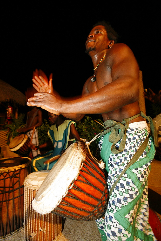 Percussionist, Saly, Thies, Senegal, West Africa, Africa