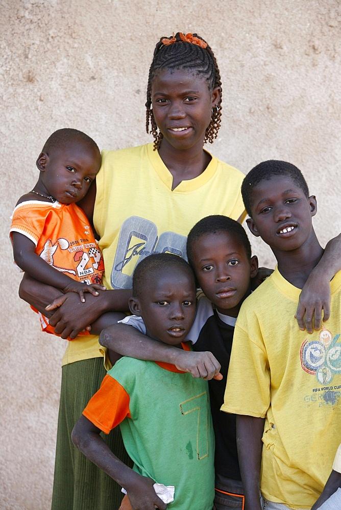 Senegalese children, Garage-Bentenier, Thies, Senegal, West Africa, Africa