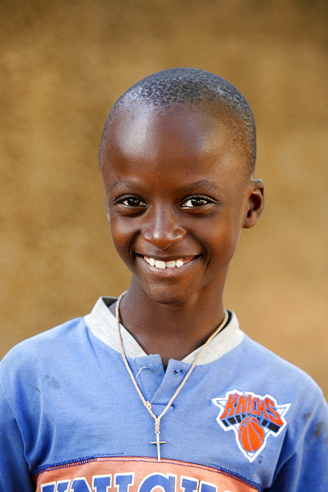 Catholic boy, Popenguine, Thies, Senegal, West Africa, Africa