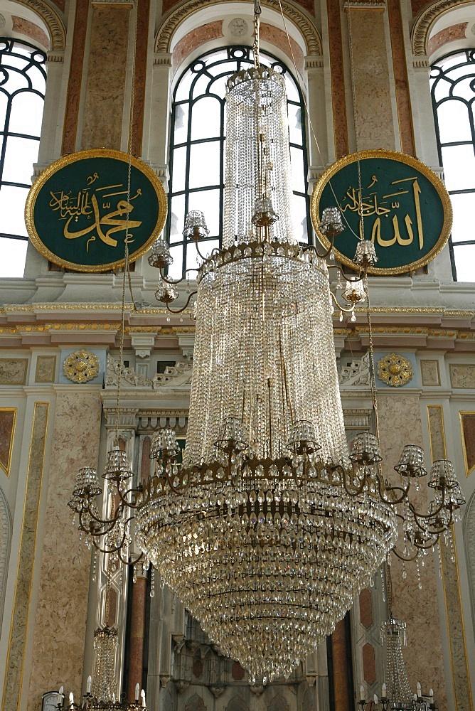 Interior, Ortakoy mosque, Istanbul, Turkey, Europe