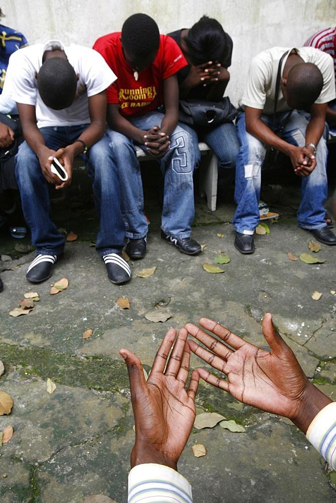 Prayer group, Brazzaville, Congo, Africa
