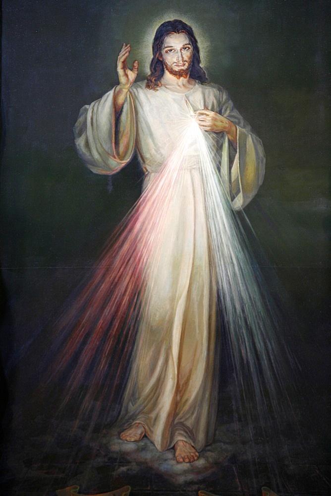Jesus of Mercy painting in San Spirito in Sassia church, Rome, Lazio, Italy, Europe