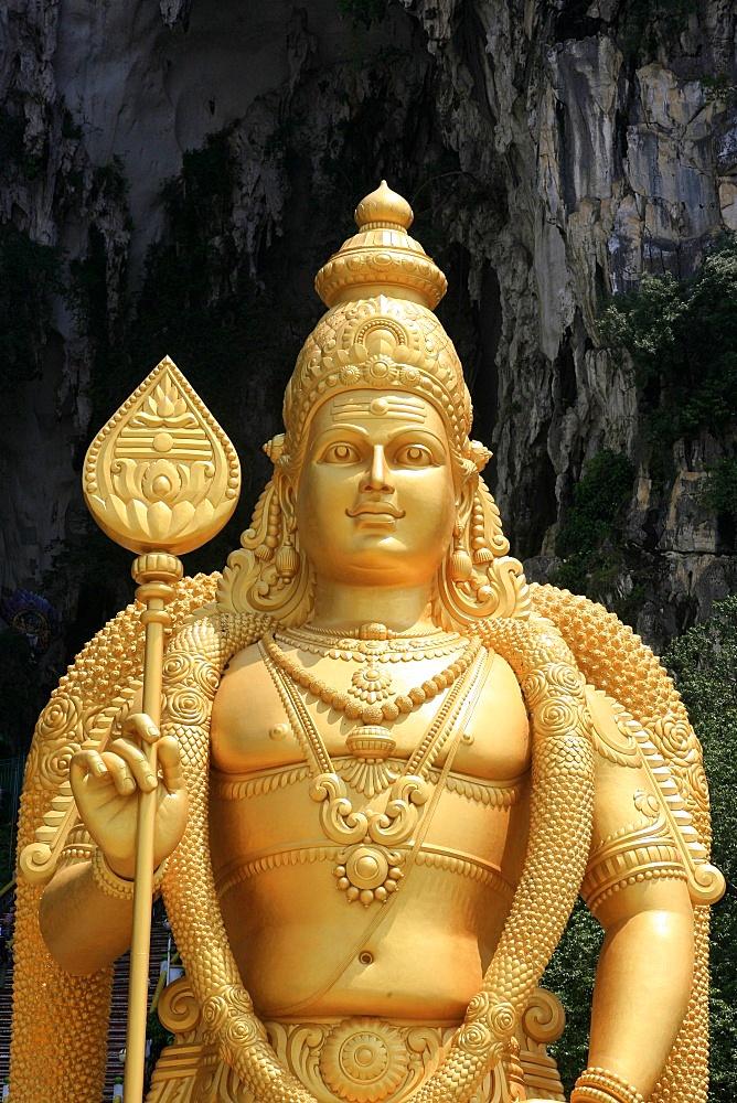 Murugan statue, Batu Caves, Kuala Lumpur, Malaysia, Southeast Asia, Asia