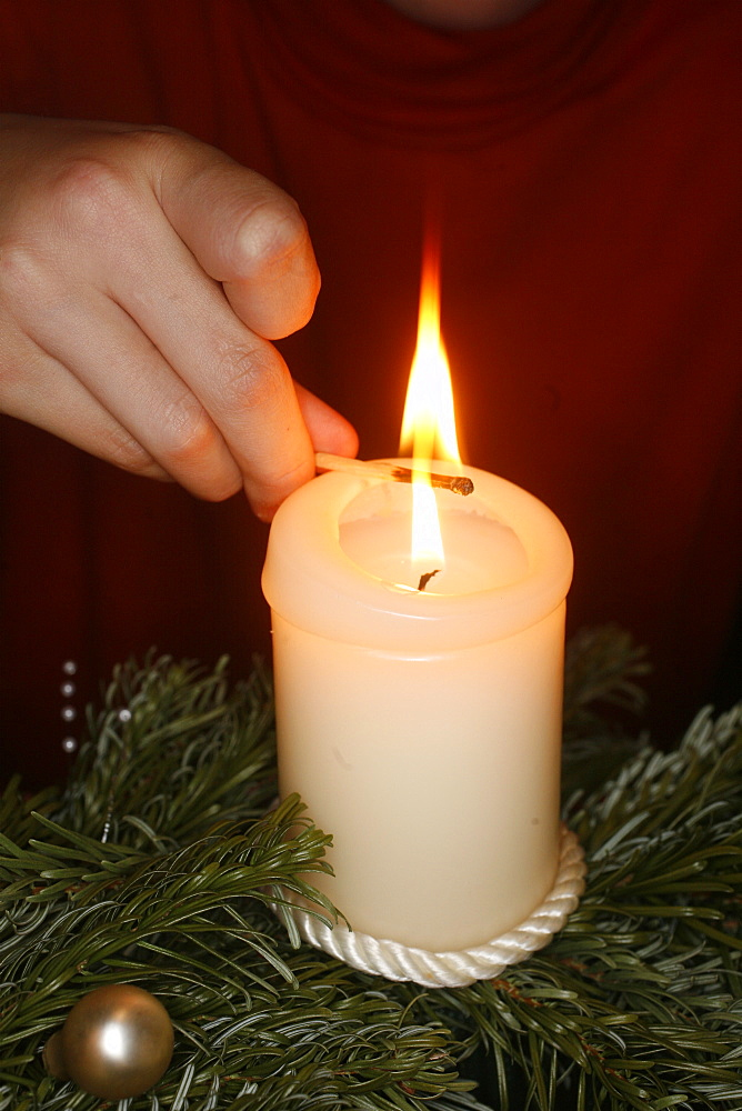 Lighting an Advent candle