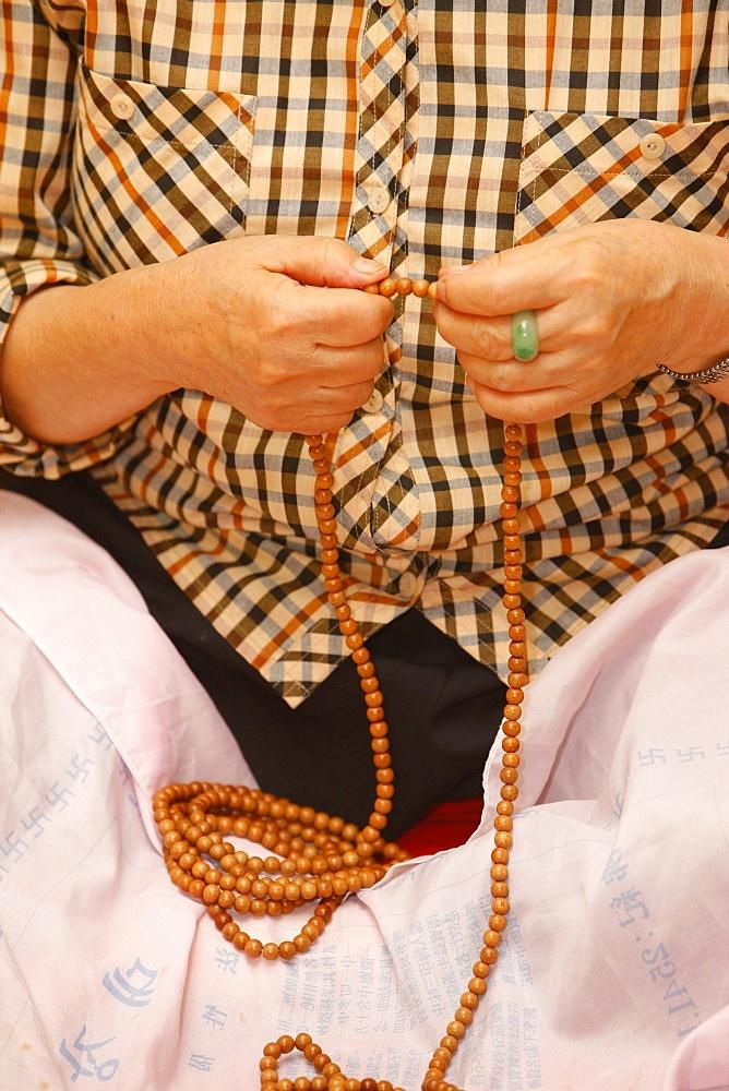 Buddhist prayer beads, Seoul, South Korea, Asia