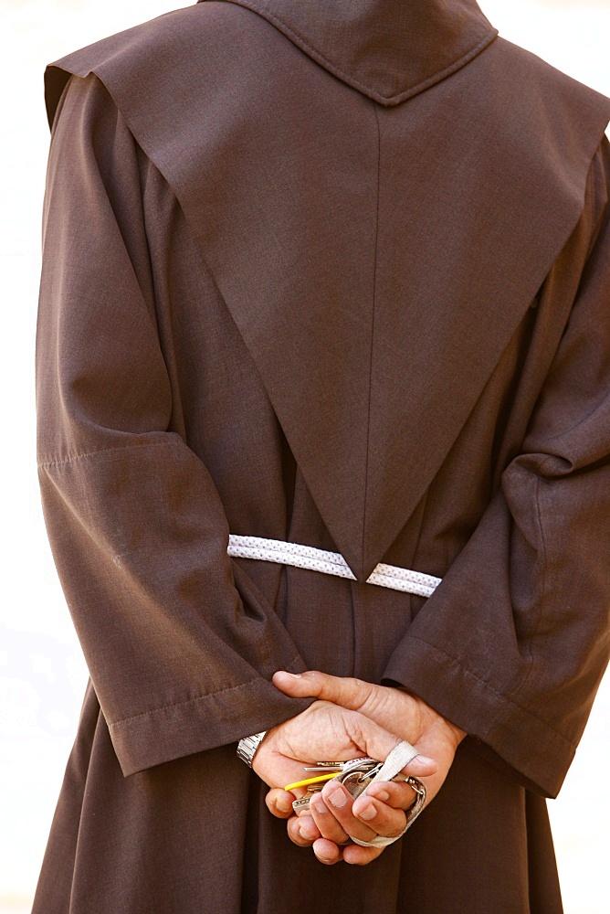 Franciscan monk, Israel, Middle East