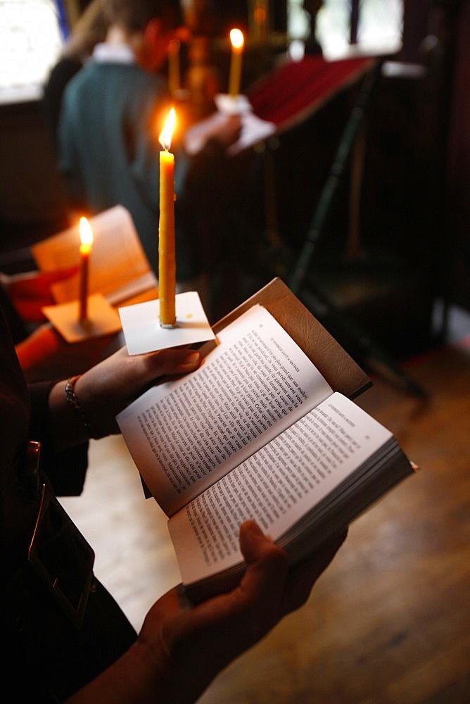 Easter week in Saint Serge Orthodox church, Paris, France, Europe