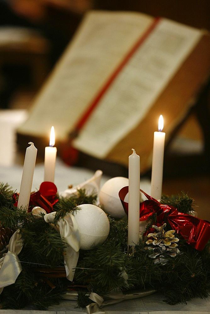Advent candles, Paris, France, Europe
