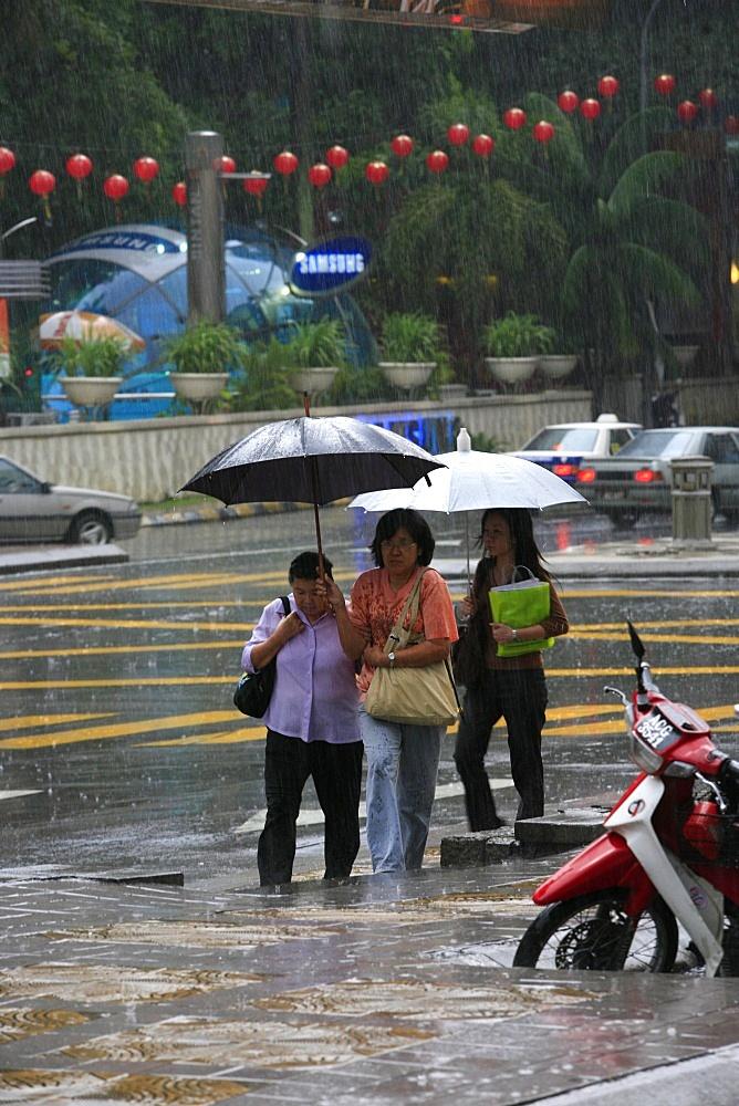 Monsoon rain, Kuala Lumpur, Malaysia, Southeast Asi, Asia