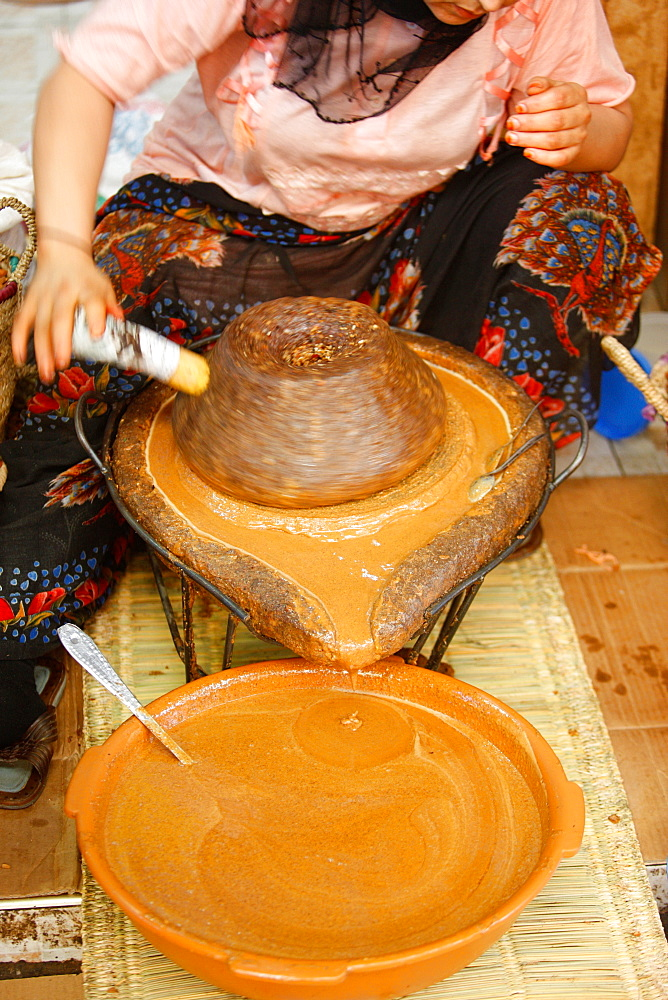 Argan oil making, Agadir, Morocco, North Africa, Africa