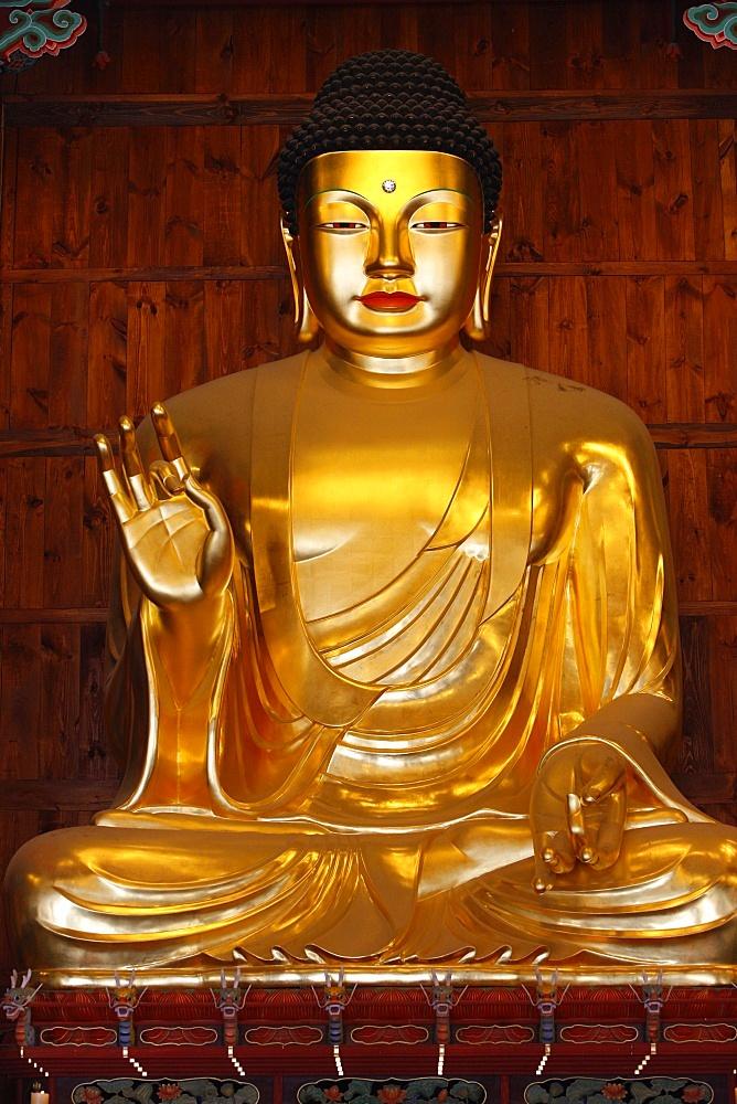 Amitabha Buddha, Main Hall, Jogyesa temple, Seoul, South Korea, Asia