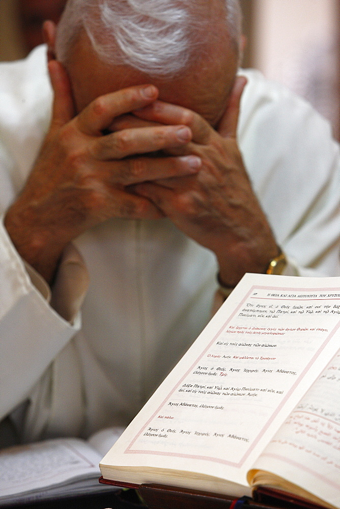 Sunday Mass in Haifa Melkite Cathedral, Haifa, Israel, Middle East