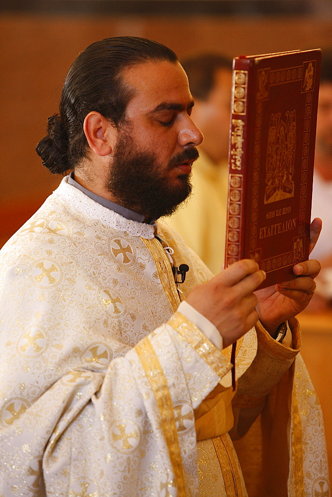 Sunday Mass in Haifa Melkite Cathedral, Haifa, Israel, Middle East - 809-2355