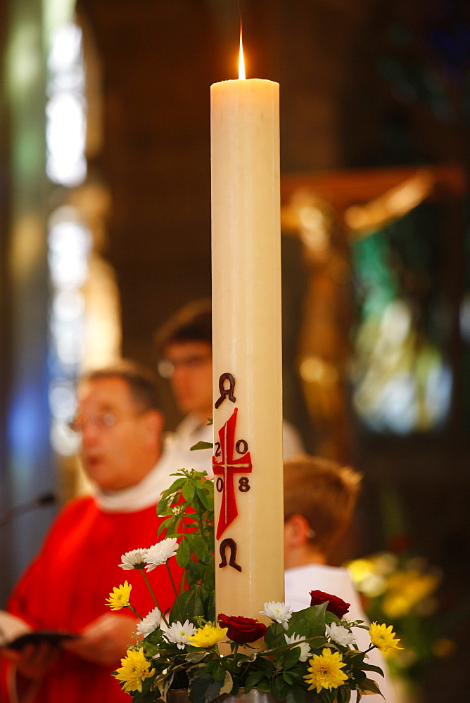 Easter candle, Reims, Marne, France, Europe
