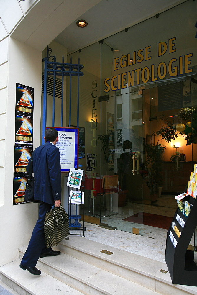 Scientology church headquarters in Paris, France, Europe