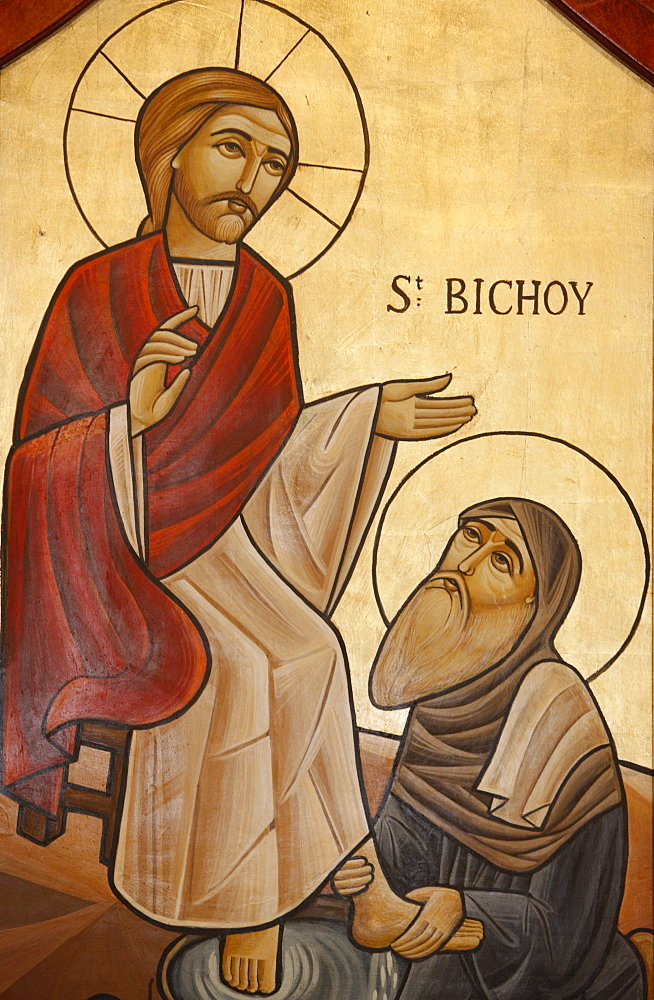 Orthodox Coptic icon of St. Bichoy, Chatenay-Malabry, Hauts de Seine, France, Europe