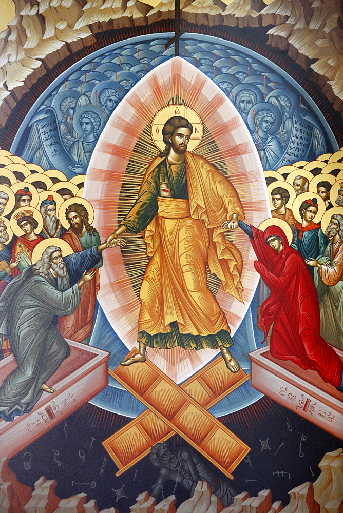 Resurrection icon, Tirana, Albania, Europe