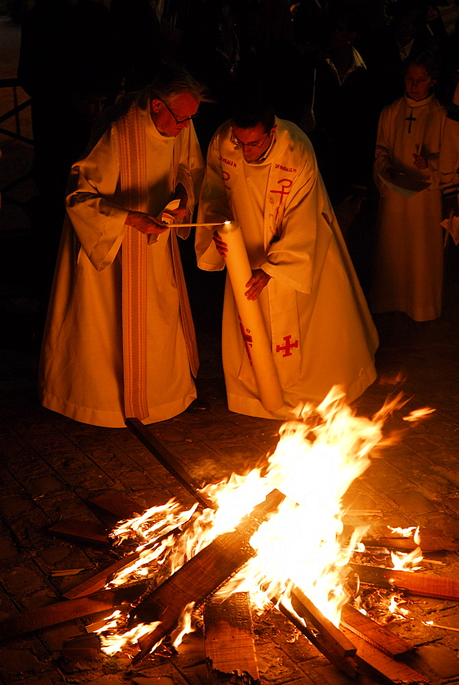 Easter vigil, Paris, Ile de France, France, Europe