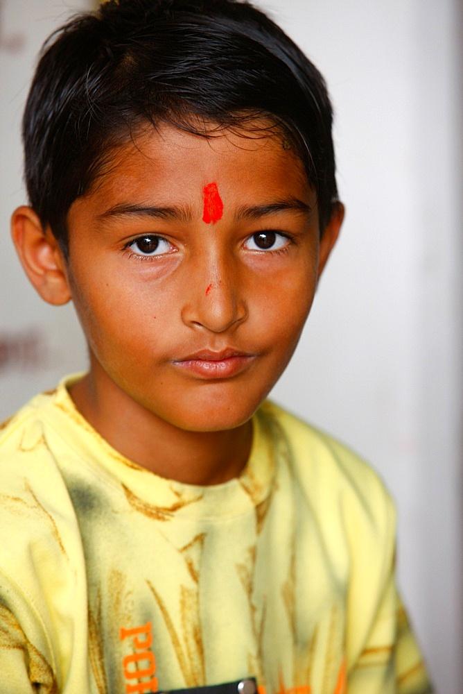 Hindu boy, Dubai, United Arab Emirates, Middle East