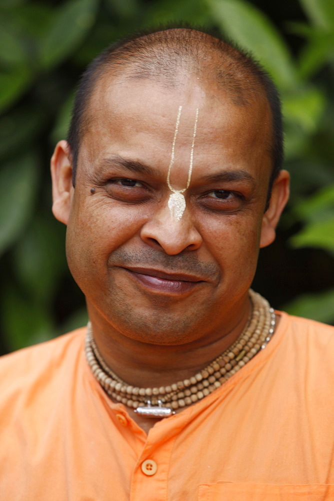Devotee, Bhaktivedanta Manor, Watford, Hertfordshire, England, United Kingdom, Europe