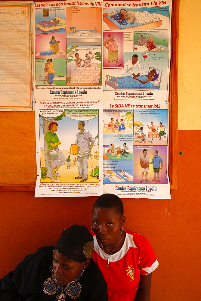 Aids awareness campaign, Lome, Togo, West Africa, Africa