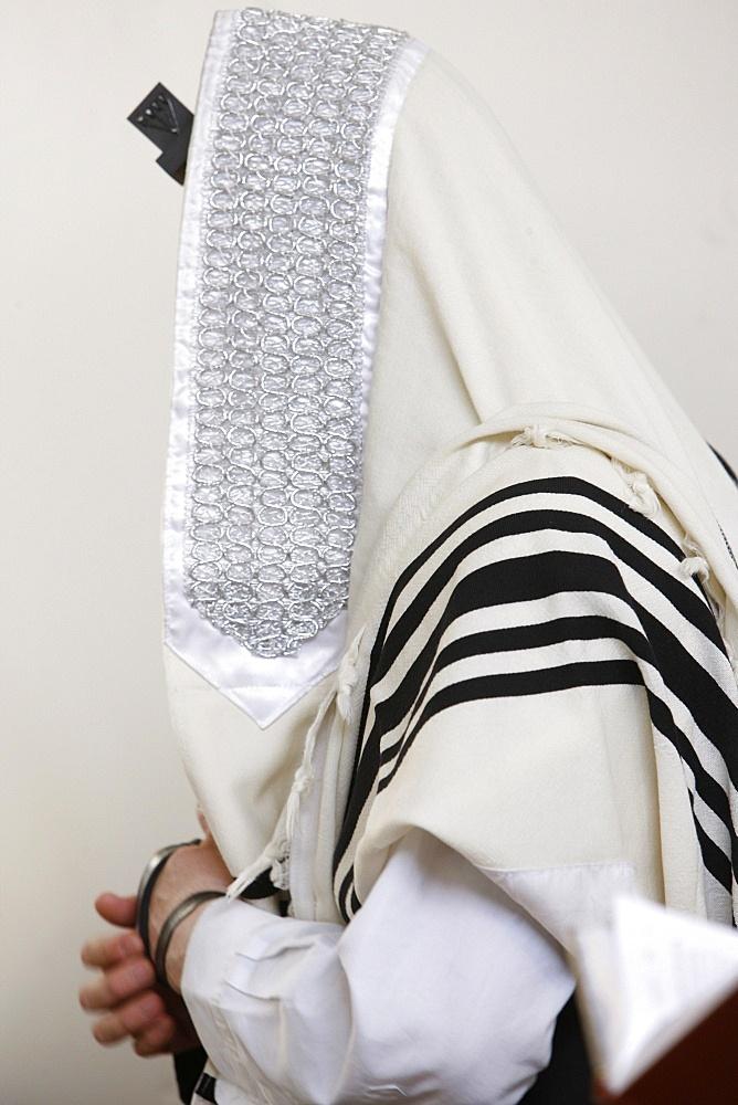 Orthodox Jew praying, Jerusalem, Israel, Middle East