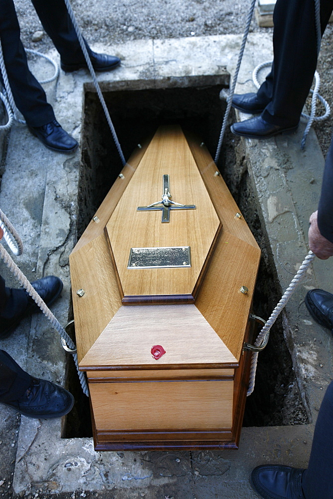 Christian burial, Our, Jura, France, Europe