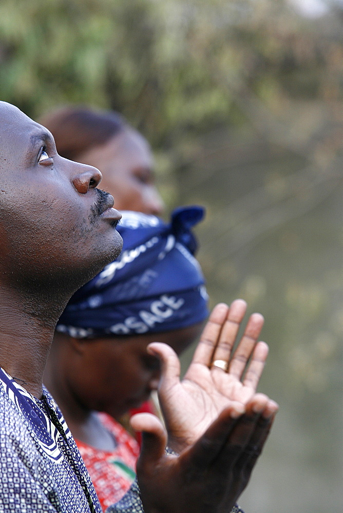 Prayer, Brazzaville, Congo, Africa