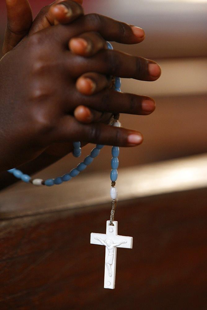 Prayer beads, Togoville, Togo, West Africa, Africa