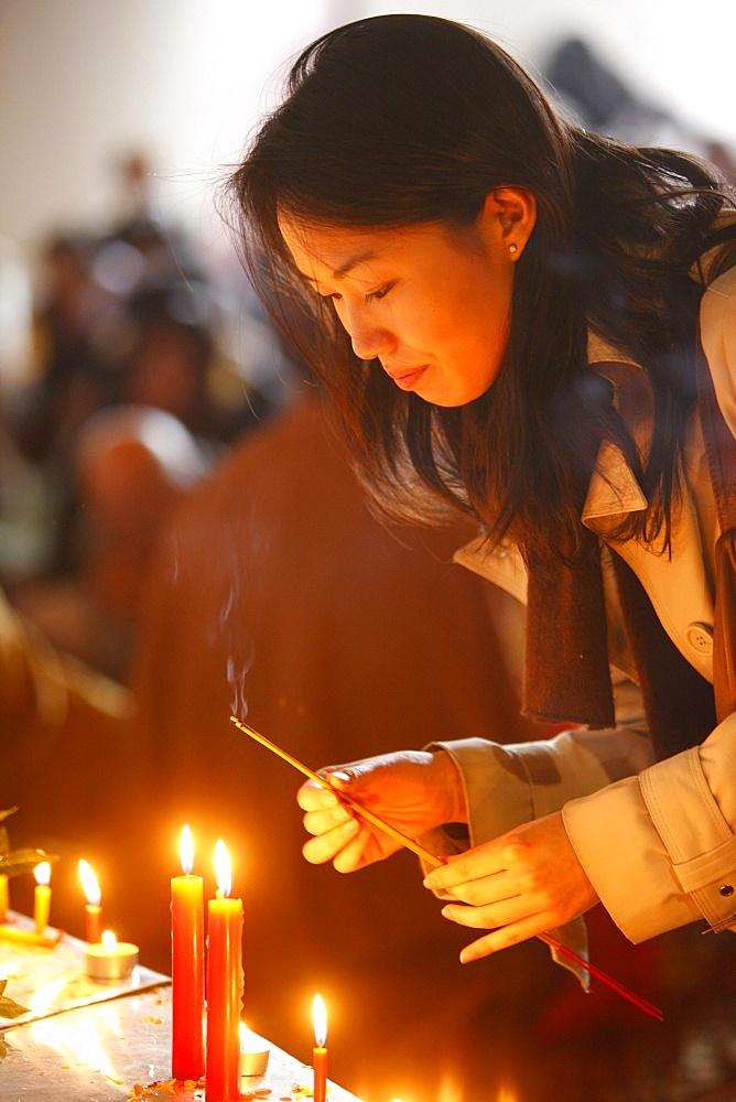 Vesak celebration at Vincennes Buddhist temple, Paris, France, Europe - 809-3499