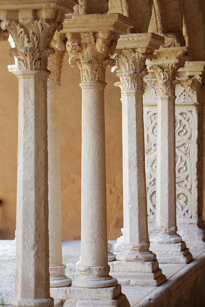 The Cloister of Saint Sauveur cathedral, Aix en Provence, Bouches du Rhone, France, Europe