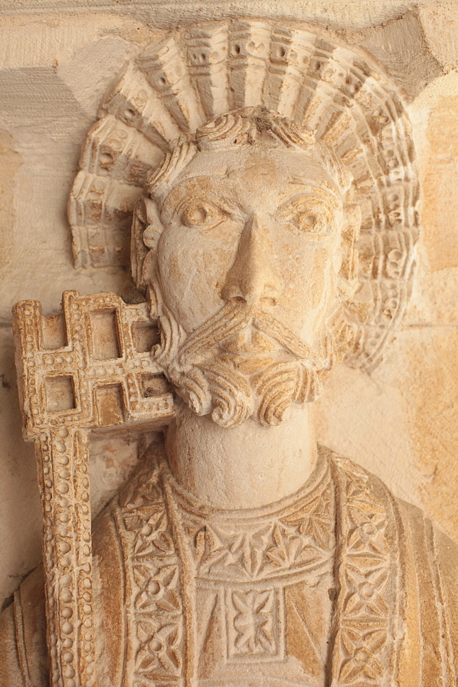St. Peter with the key, Cloister of Saint Sauveur cathedral, Aix en Provence, Bouches du Rhone, Provence, France, Europe