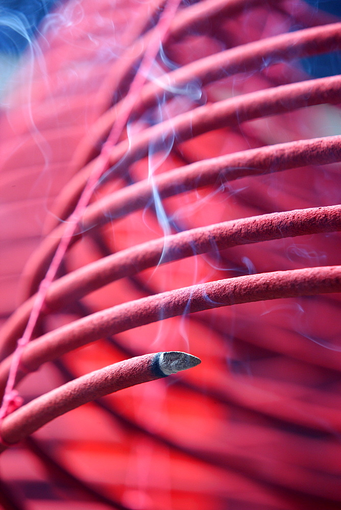 Incense coils, Tin Hau Temple, Hong Kong, China, Asia