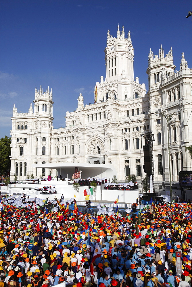 Welcome ceremony for Pope Benedict XVI at World Youth Day 2011, Madrid, Spain, Europe
