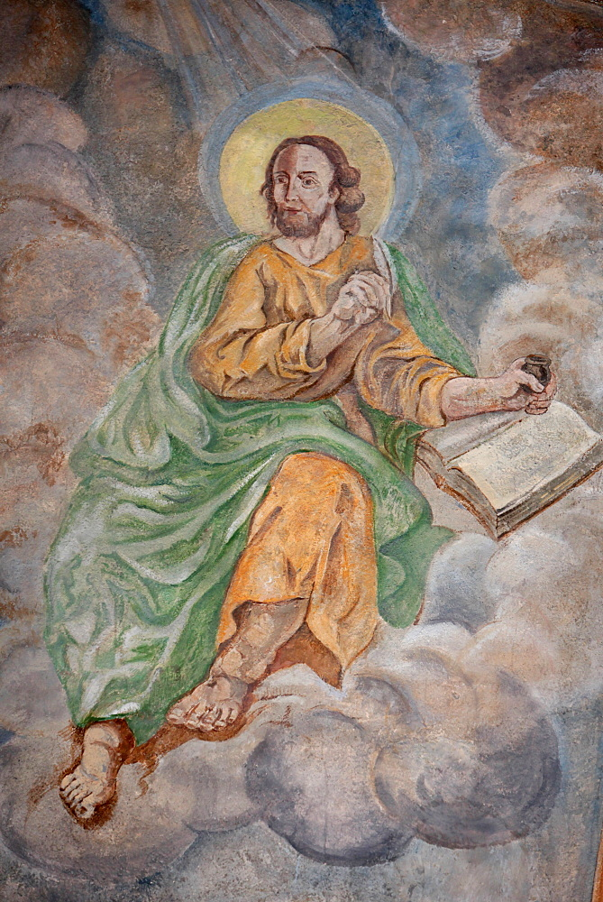 St. Mark, Our Lady of Assumption church, Cordon, Haute-Savoie, France, Europe
