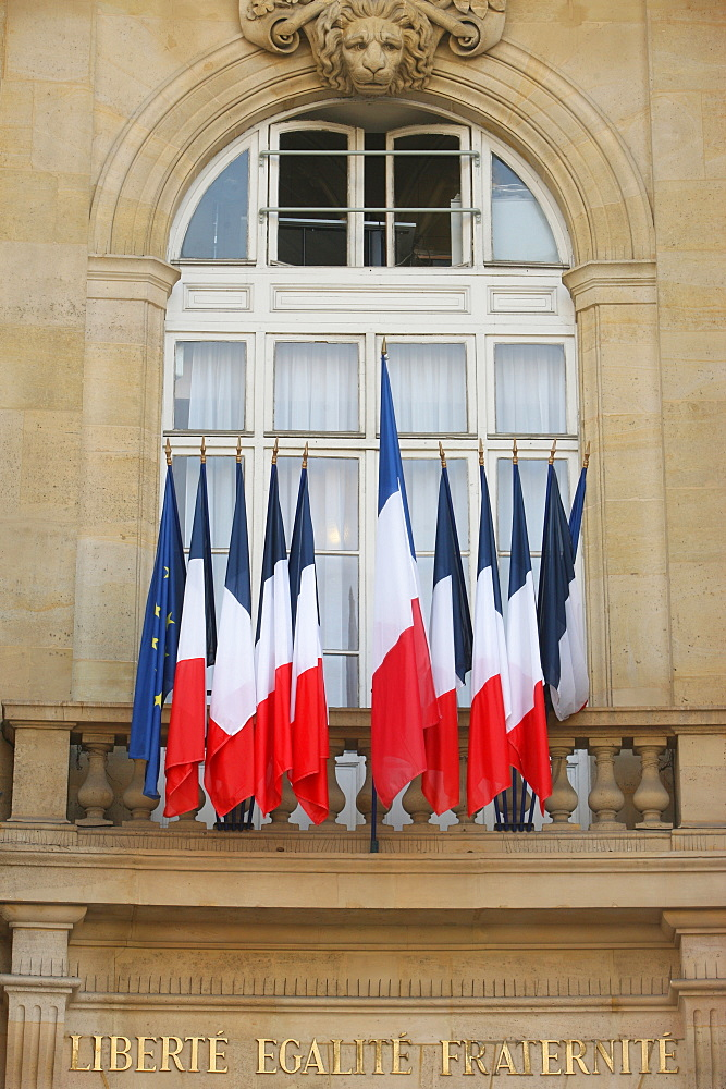 French flags, Paris, France, Europe