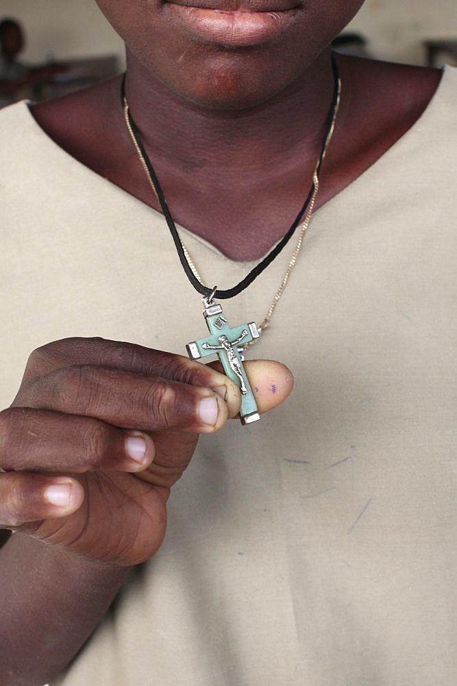 Crucifix, Lome, Togo, West Africa, Africa