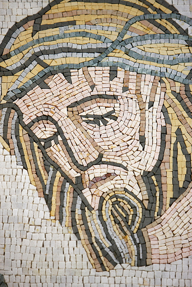 Mosaic in Maronite church, Lome, Togo, West Africa, Africa