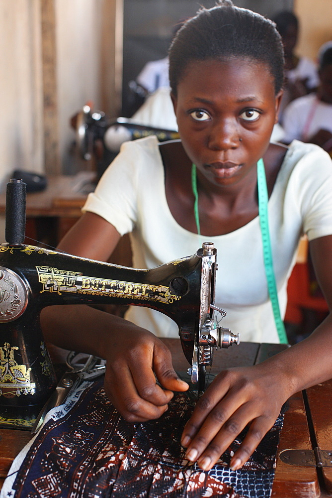 Tailoring workshop, Lome, Togo, West Africa, Africa