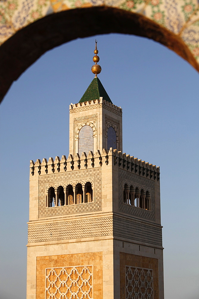 Great Mosque (Ezzitouna Mosque) minaret, Tunis, Tunisia, North Africa, Africa