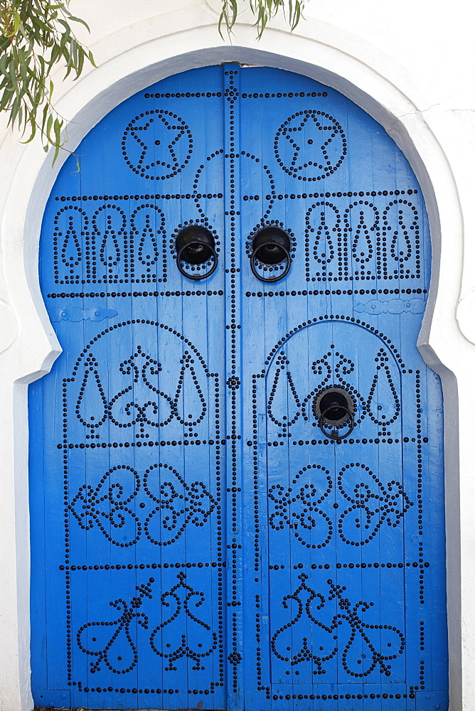 Door in Sidi Bou Said, Tunisia, North Africa, Africa