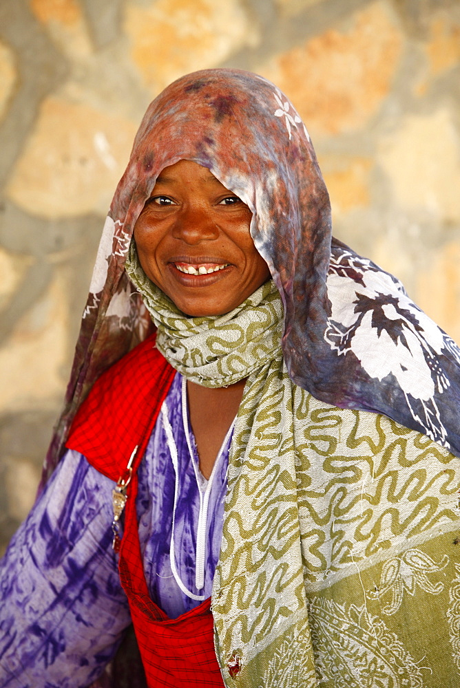 Berber woman in Toujane village, Tunisia, North Africa, Africa